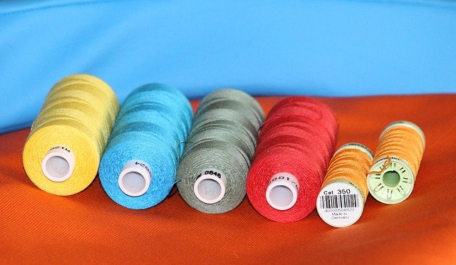 bobines de fil de couture