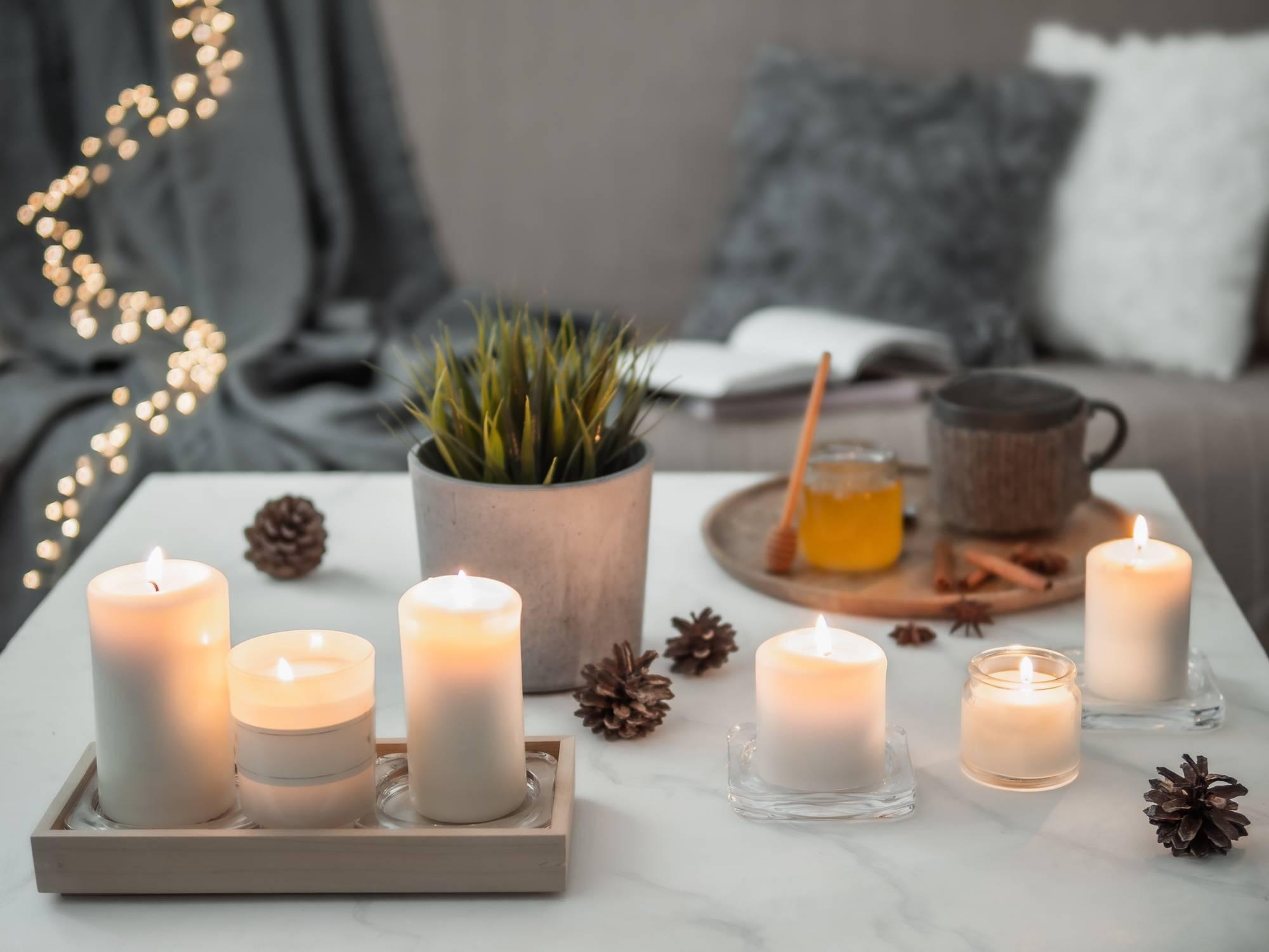 des bougies parfumées