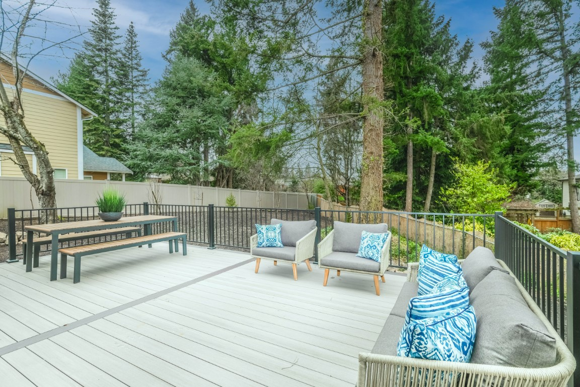 terrasse en bois clair