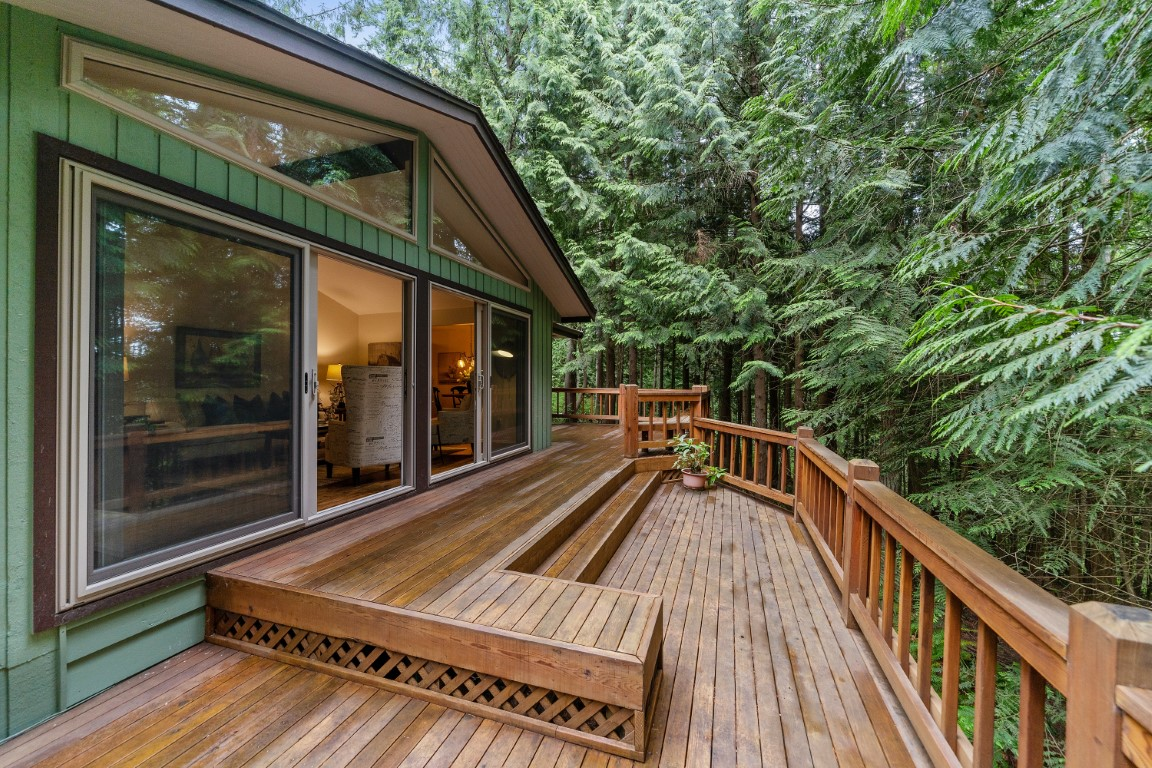 terrasse en bois vintage
